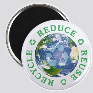 Reduce Reuse Recycle [globe] Magnet